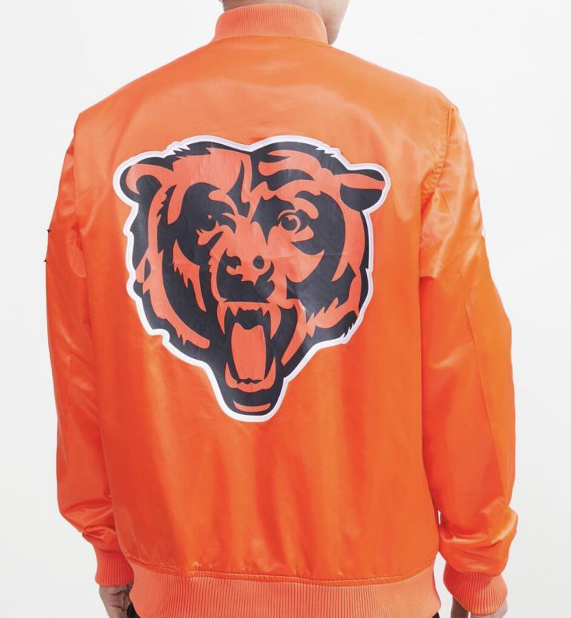 Chicago Bears Jacket 2021 Orange Satin