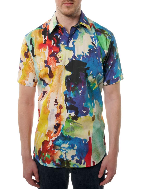 Robert Graham Catalina Embroidered Short Sleeve Shirt Multi