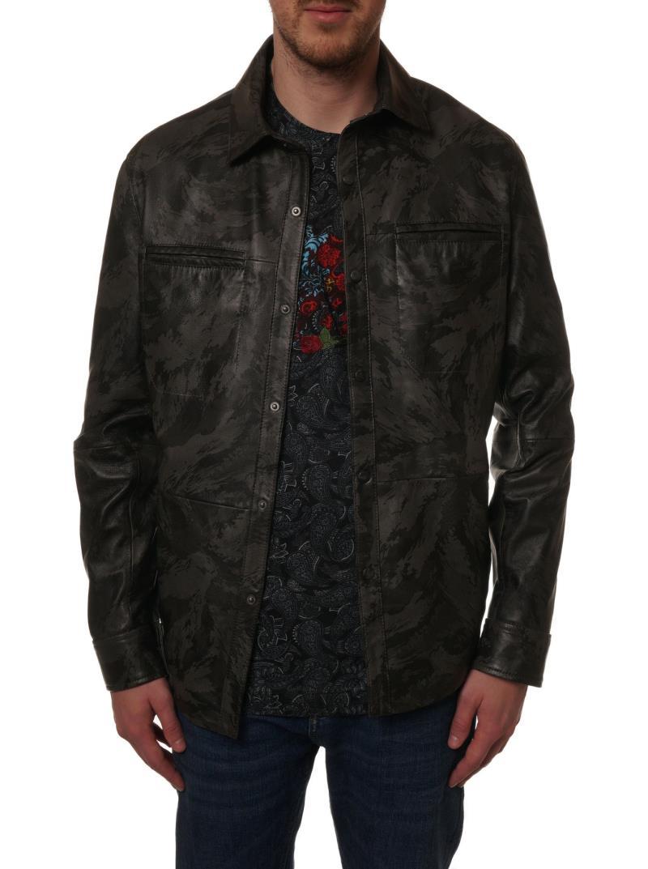 Robert Graham Cupertino Como Leather Shirt Jacket