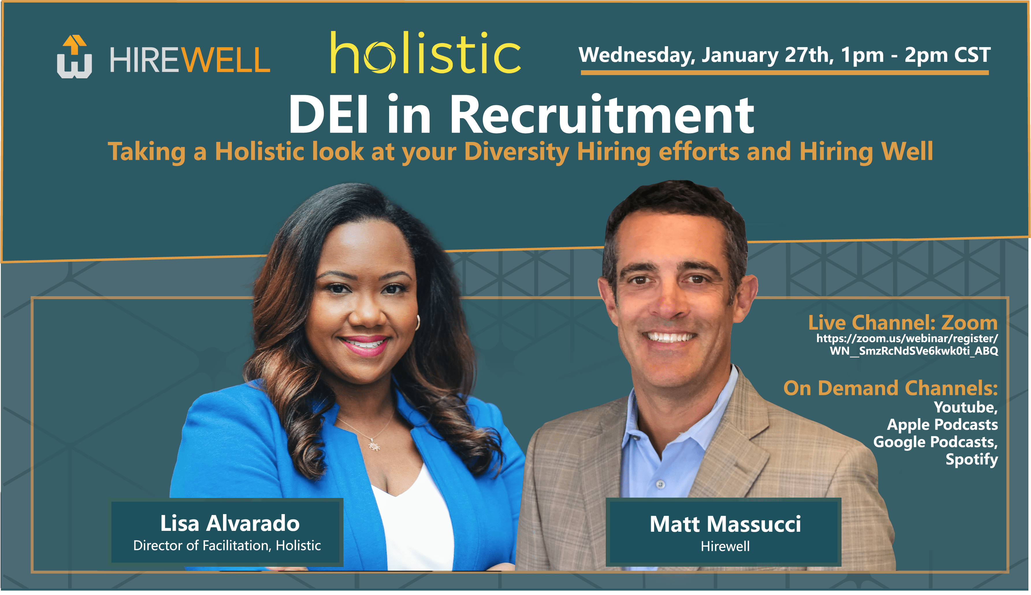 [VIRTUAL] DEI in Recruitment - Taking a Holistic look at your Diversity Hiring efforts and Hiring Well