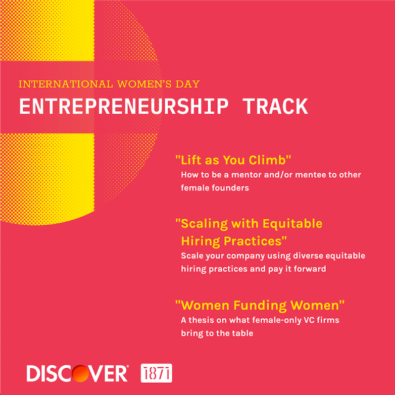 International Women's Day Workshops: Entrepreneurship Track