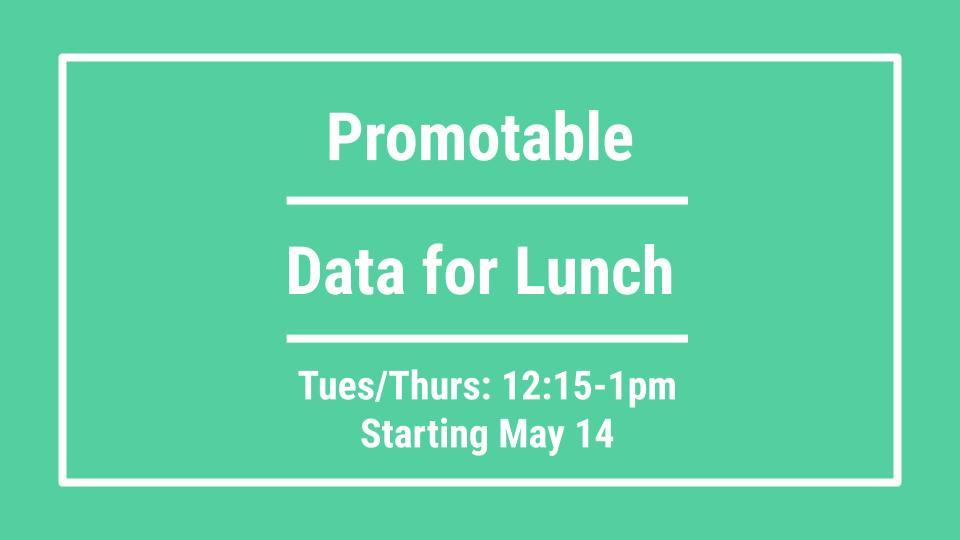 Data for Lunch: SQL for Data Analytics