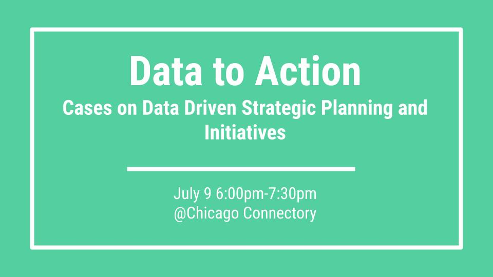 Data to Action: Cases on Data Driven Strategic Planning and Initiatives