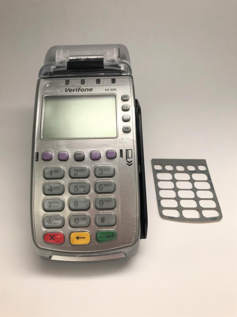Verifone Vx520 EMV Terminal with Overlay and Full Device Protective Cover