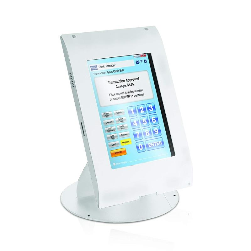 MMF POS Locking Tablet Enclosure Case with Stand for 7-8 Inch Tablets, White (MMFTE081106)