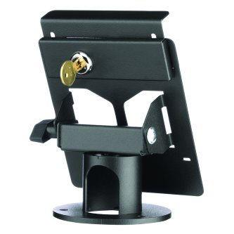 "Pax PX5 Terminal Locking Stand, Round 2"" high base, secured L Bracket"