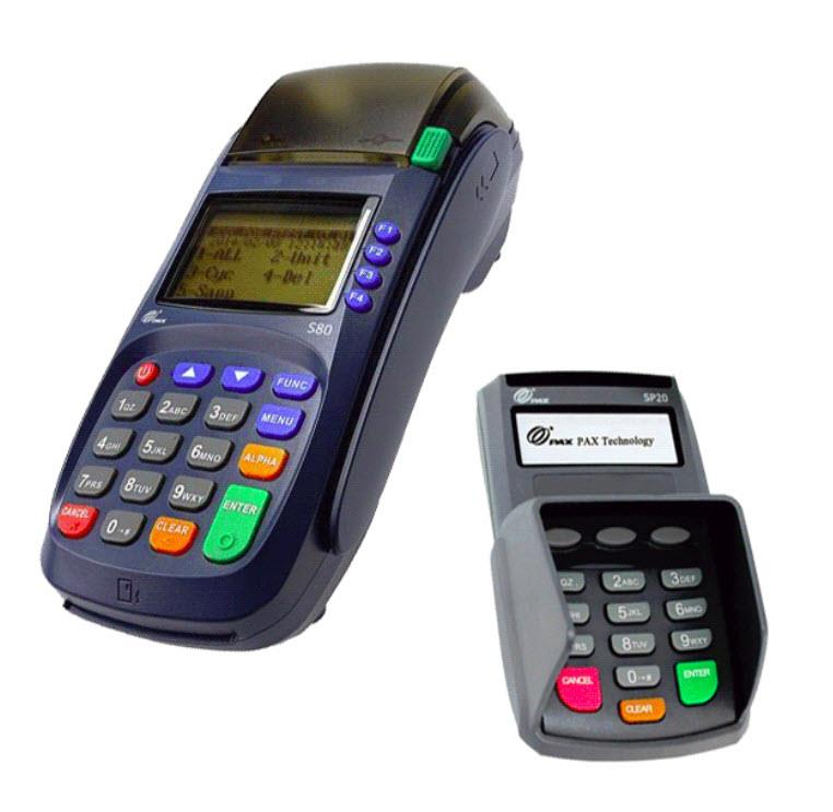 Pax S80 EMV CTLS Credit Card Terminal and New PAX SP20 PIN Pad