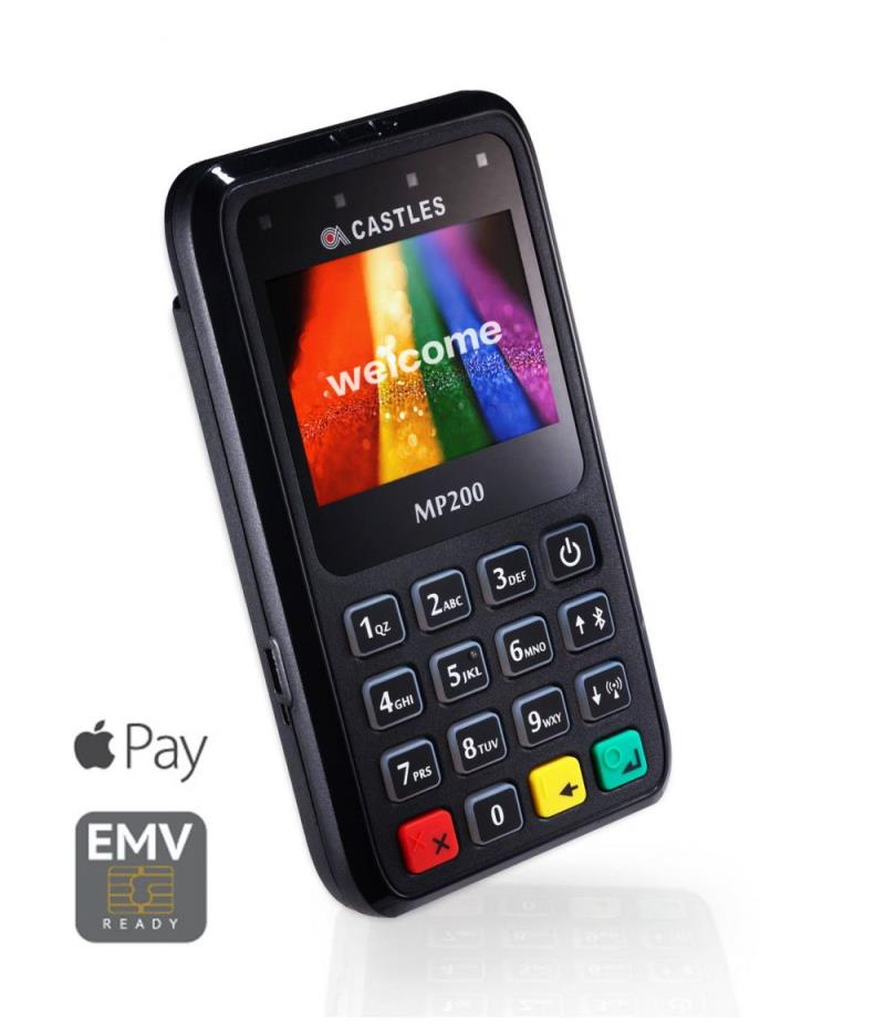 Castles MP200L Wi-Fi, Bluetooth, Contactless POS Device