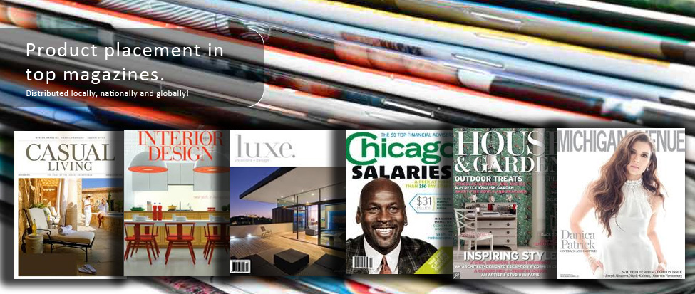 We help our clients' products get showcased in top magazines.