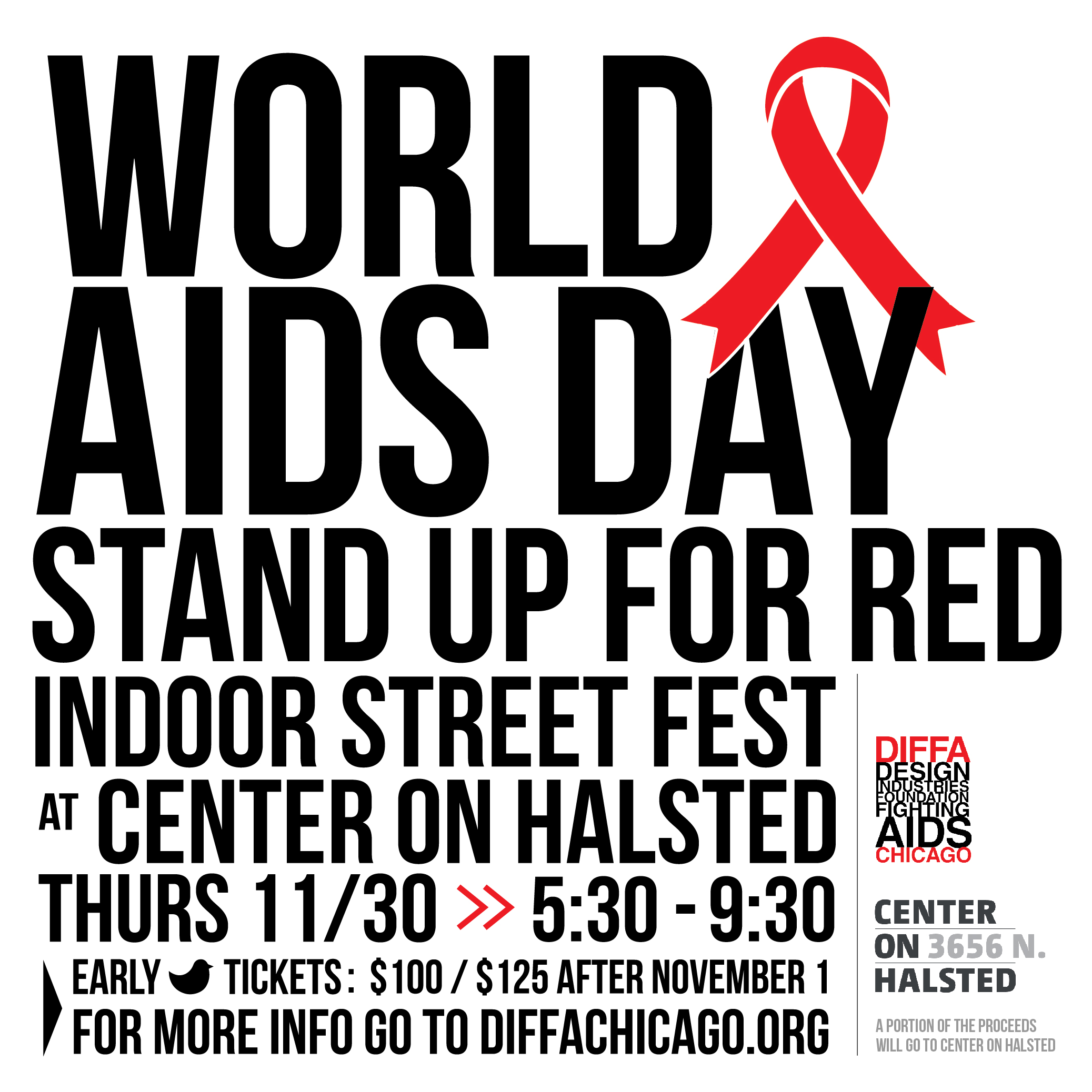 World AIDS Day STAND UP FOR RED - Indoor Street Fest
