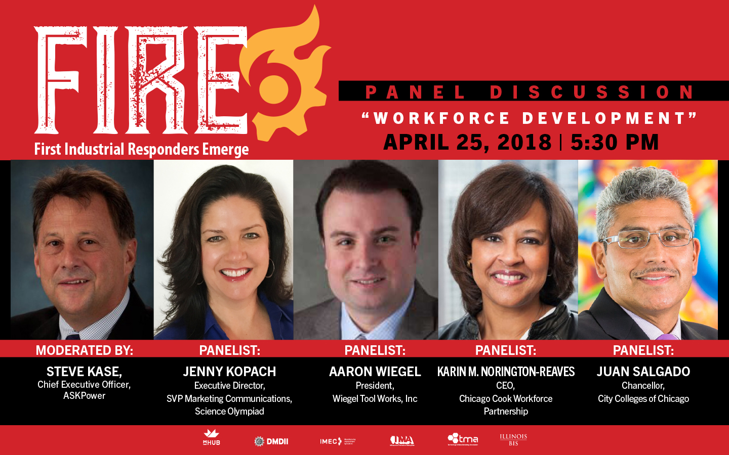 mHUB Presents First Industrial Responders Emerge (FIRE) Panel Discussion: Manufacturing Workforce Development