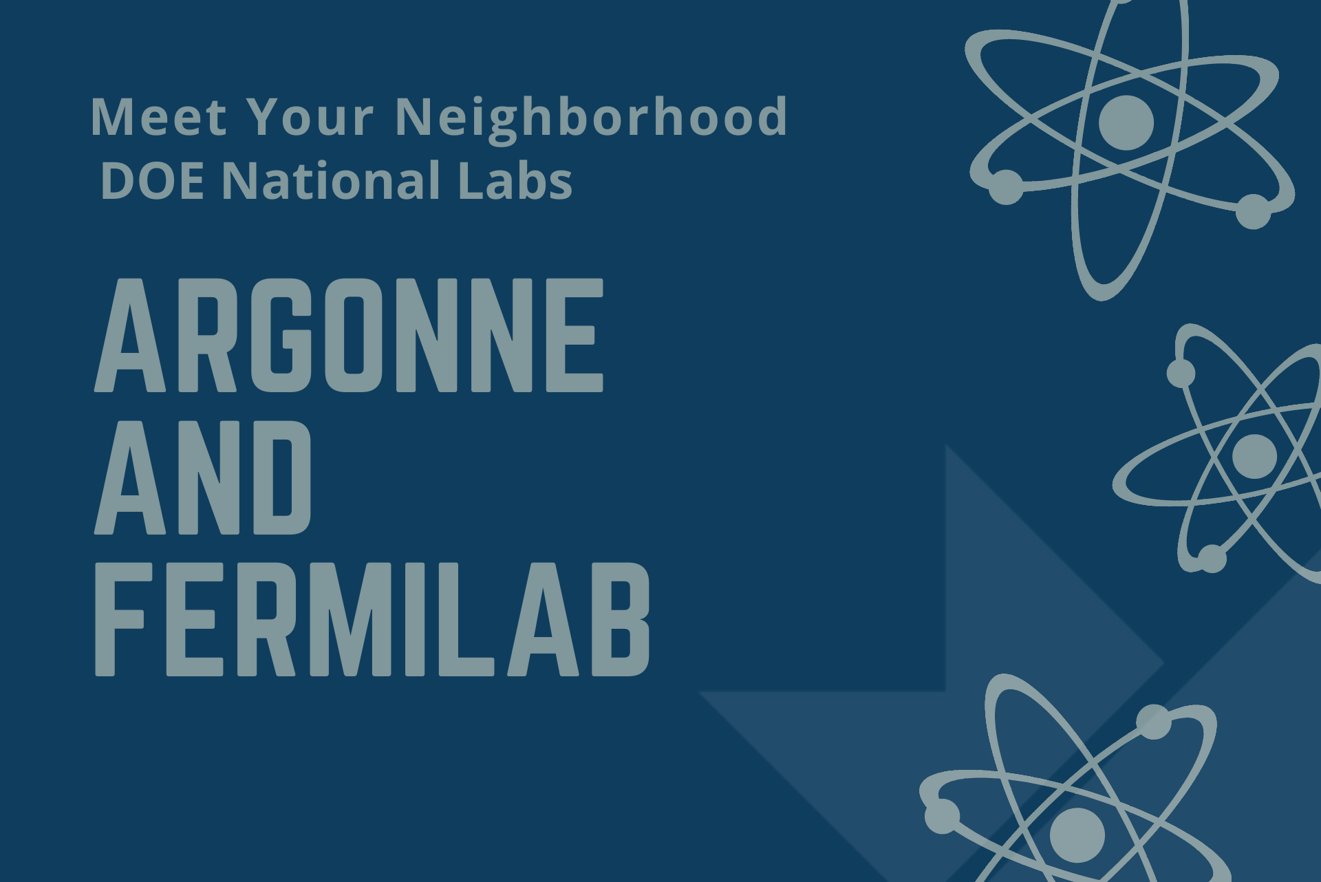Meet Your Neighborhood DOE National Labs: Argonne and Fermilab