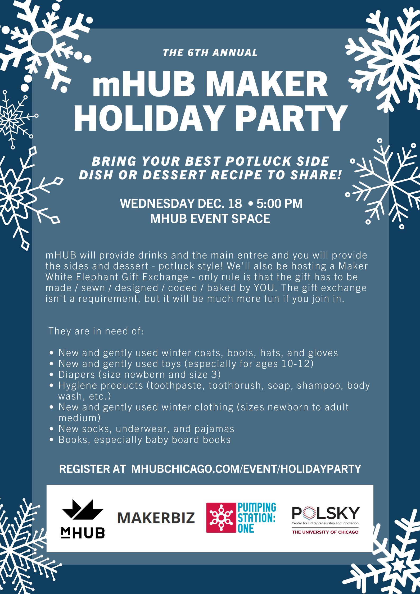 Annual Maker Community Holiday Party
