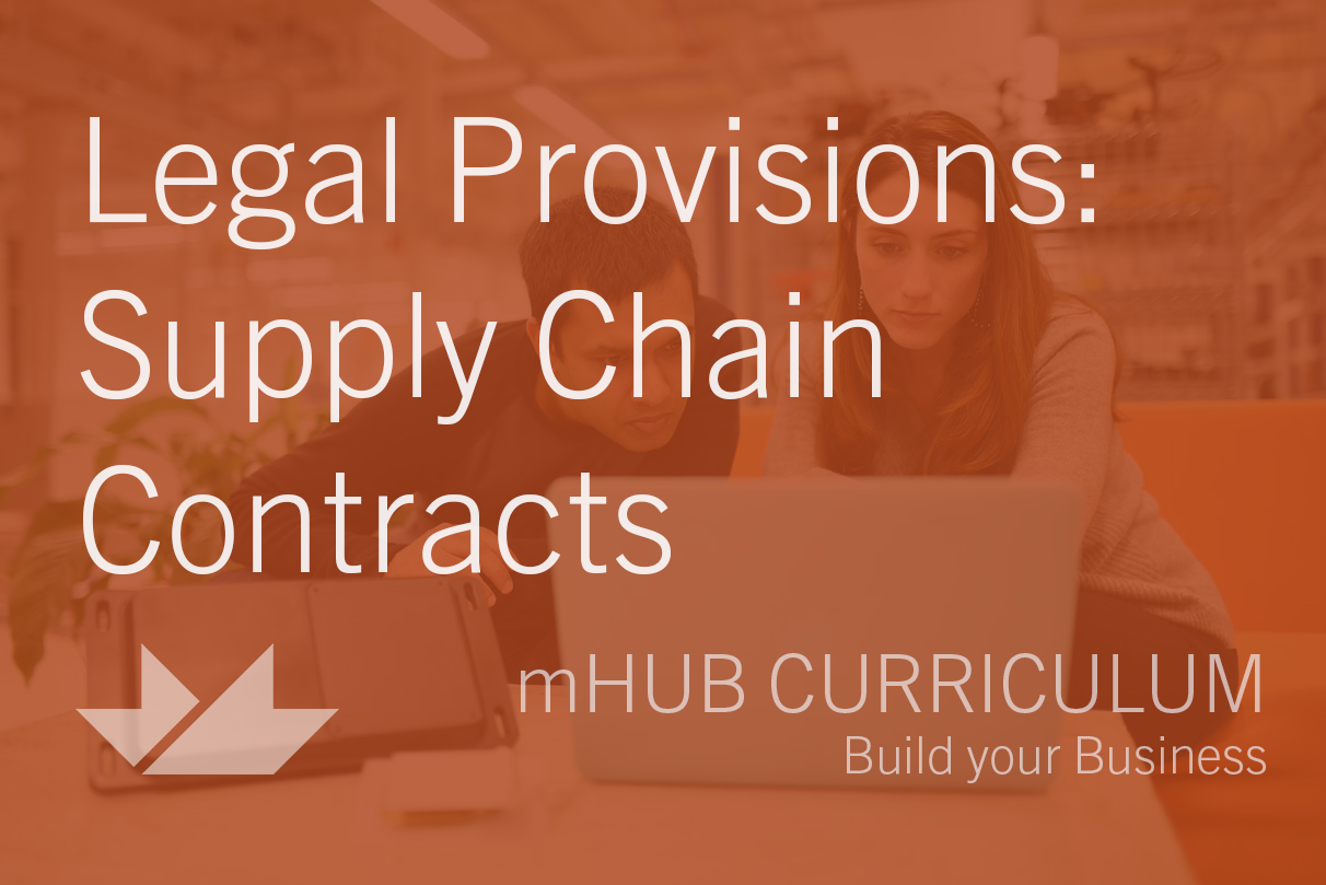 Legal Provisions: Supply Chain Contracts
