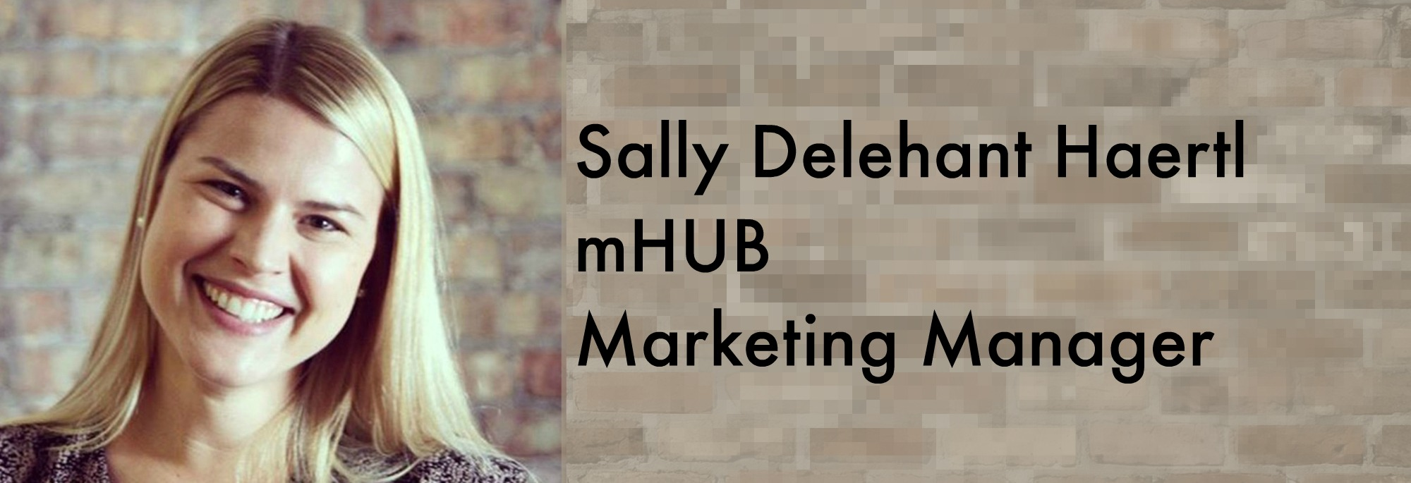 mHUB Marketing Manager Sally Delehant Haertl