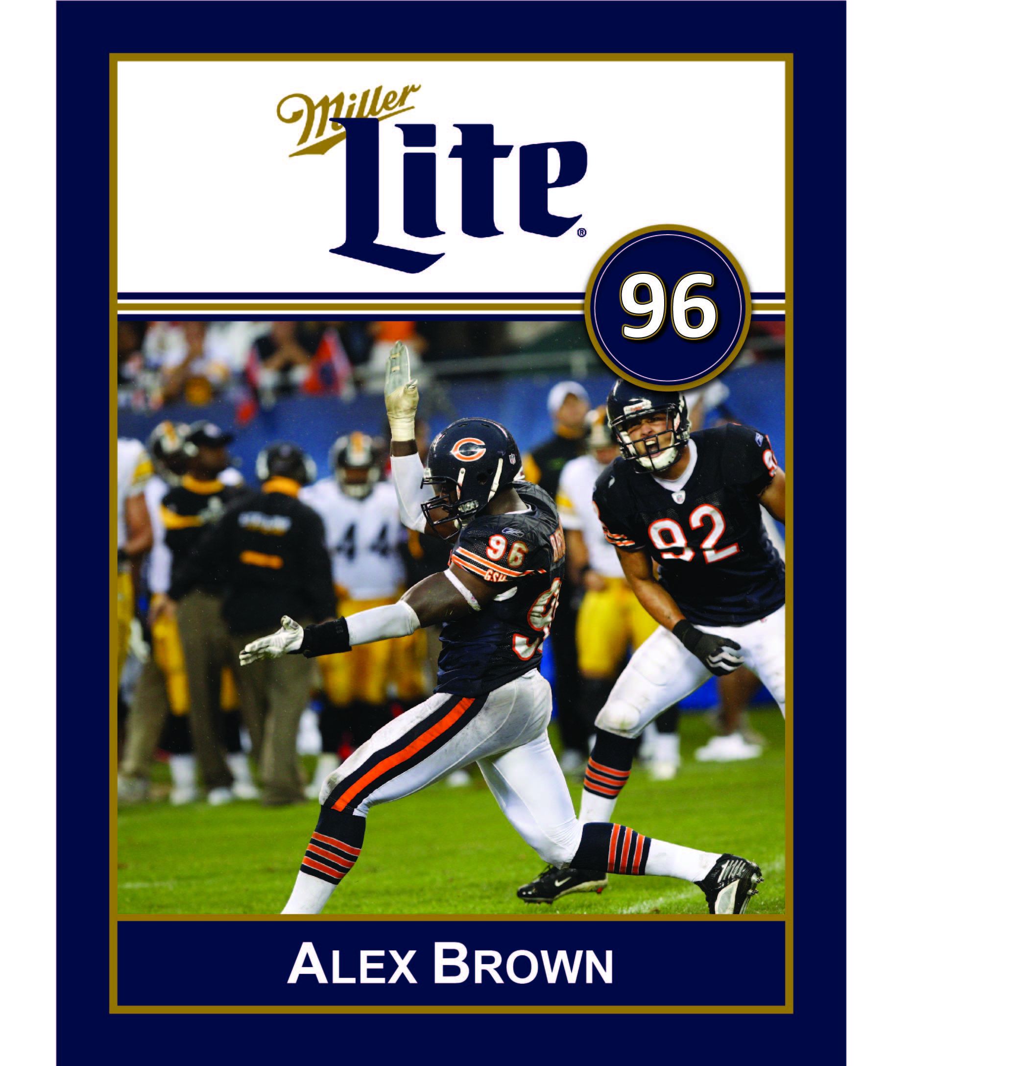 Miller Lite Chicago Bears Appearance with Alex Brown