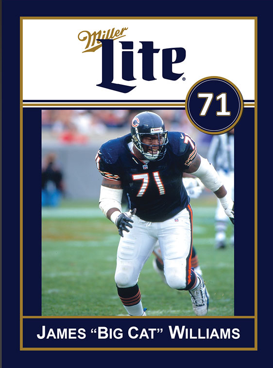 Miller Lite Chicago Bears Appearance with James