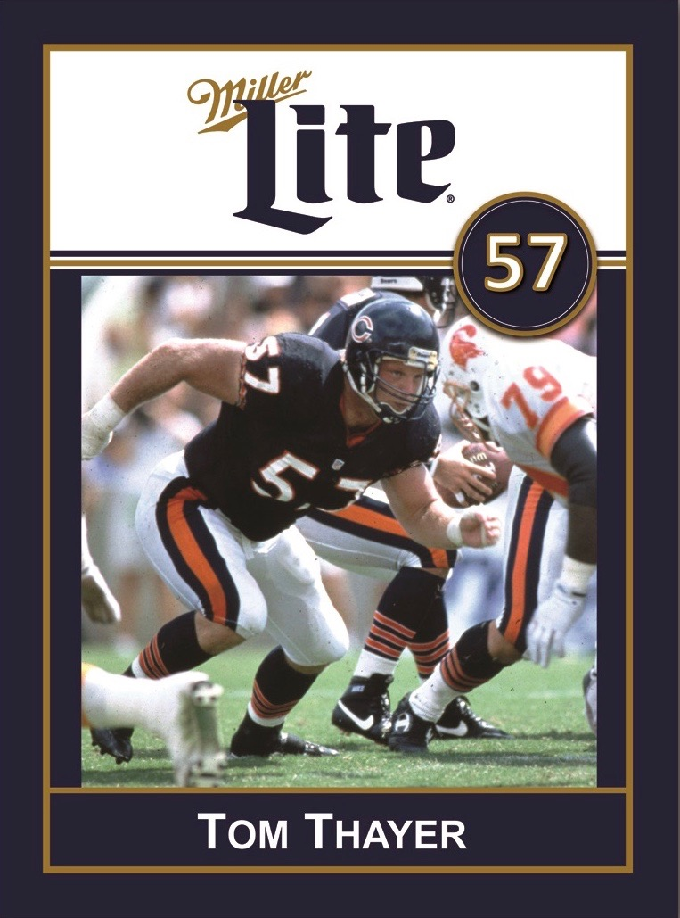 Miller Lite Chicago Bears Appearance with Tom Thayer