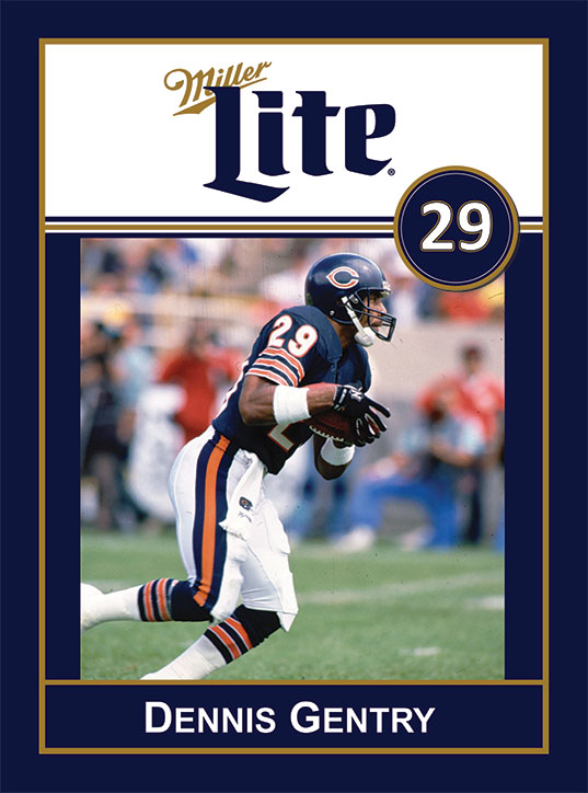 Miller Lite Chicago Bears Appearance with Dennis Gentry