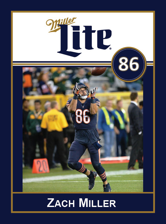 Miller Lite Chicago Bears Appearance with Zach Miller