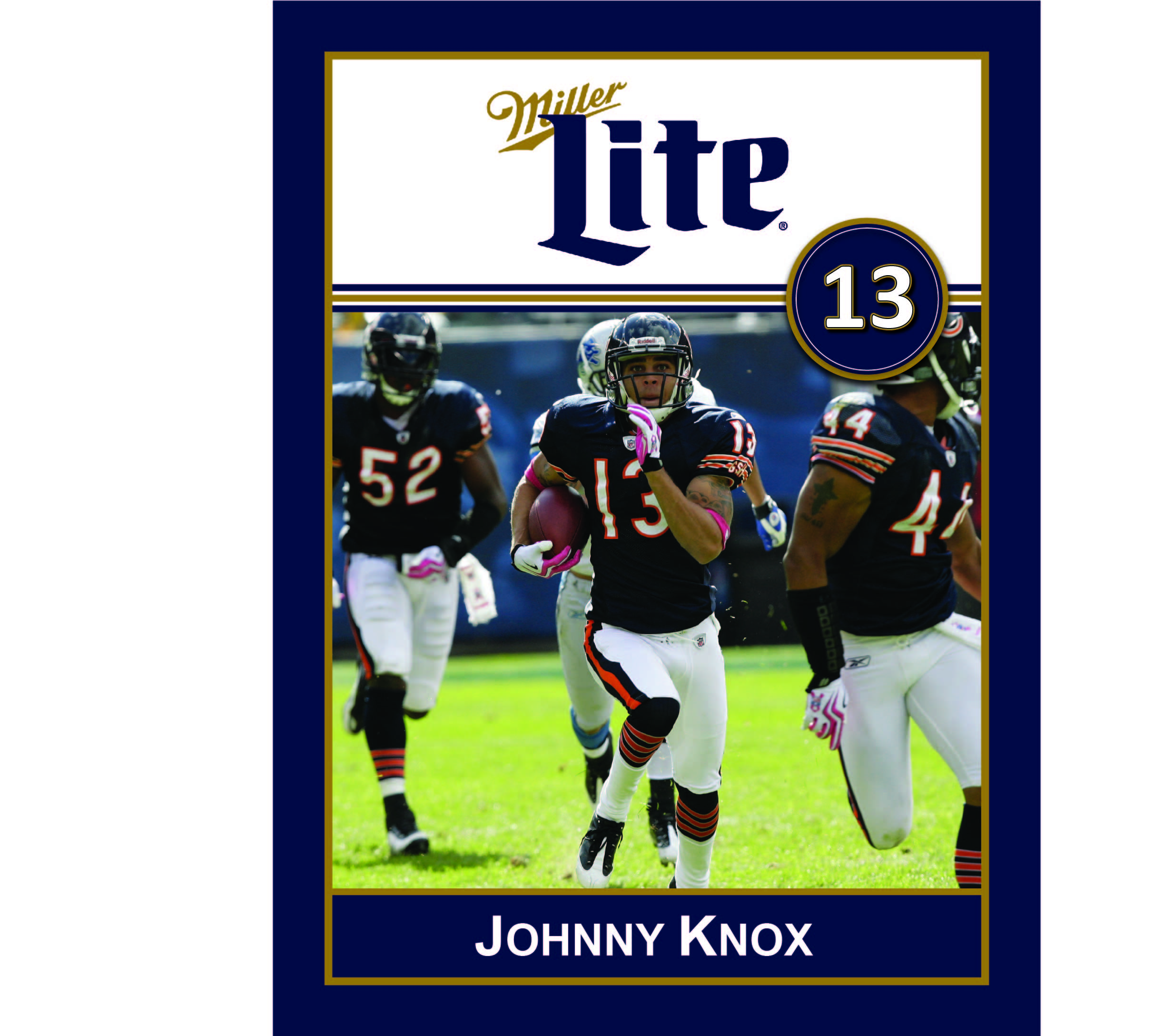 Miller Lite Chicago Bears Appearance with Johnny Knox