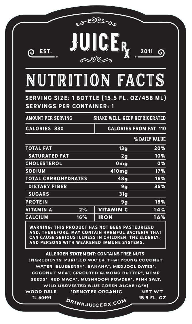Brain Boost Nutrition Facts