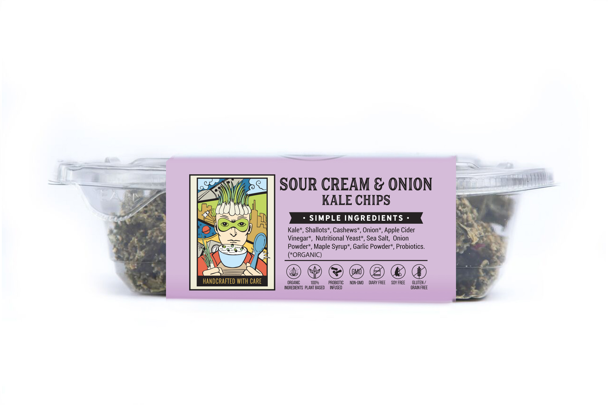 sour cream and onion kale chips side 1