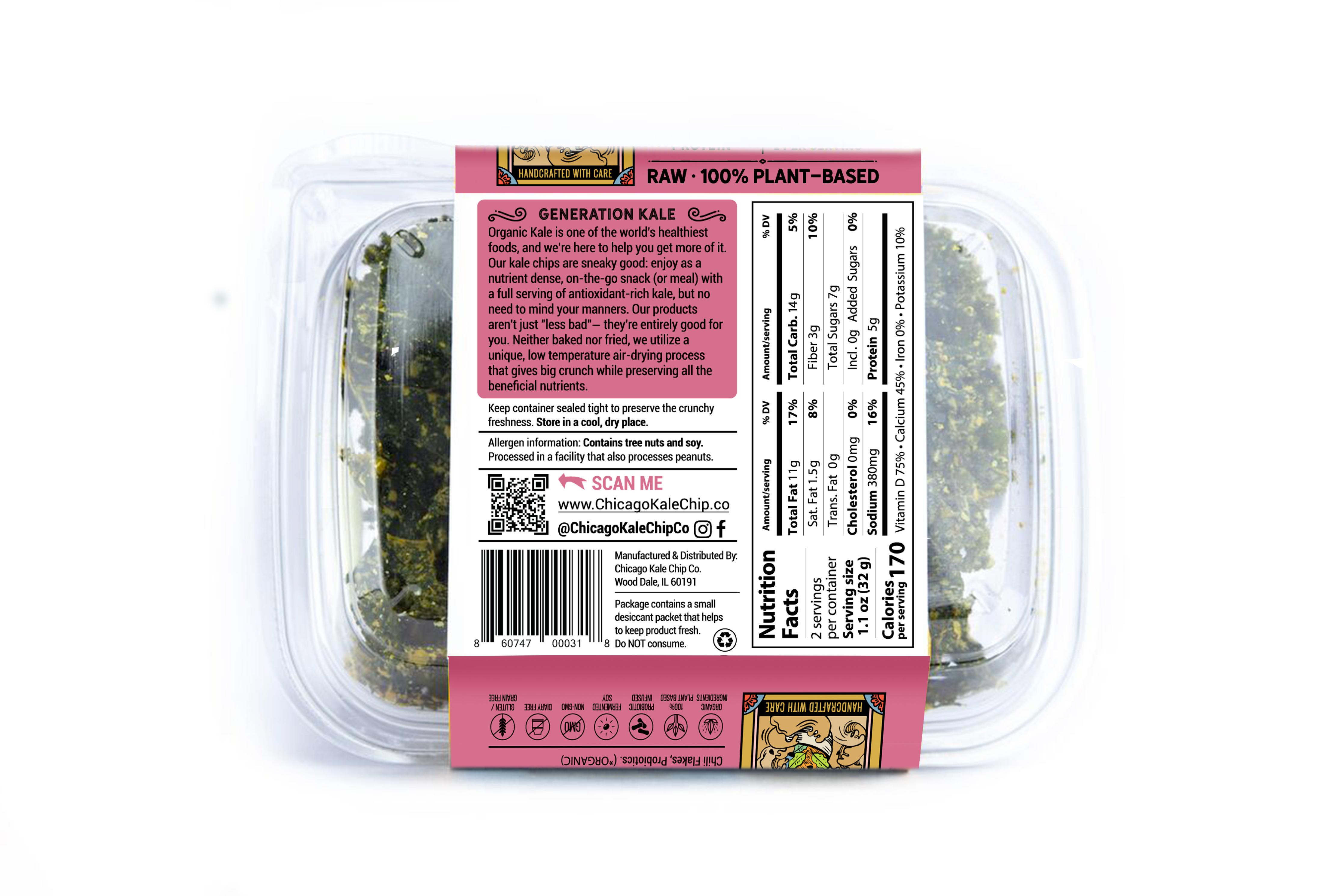 sesame ginger kale chips back