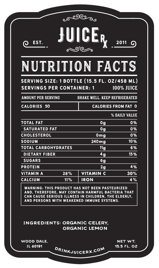 Celery Juice Nutrition