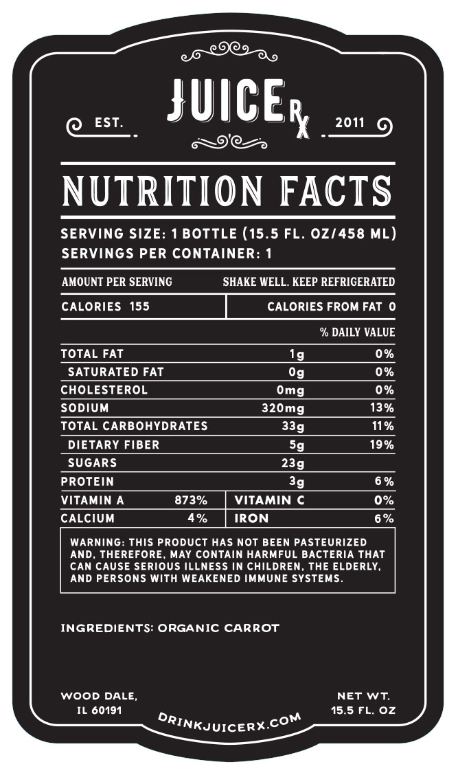 carrot juice nutrition facts