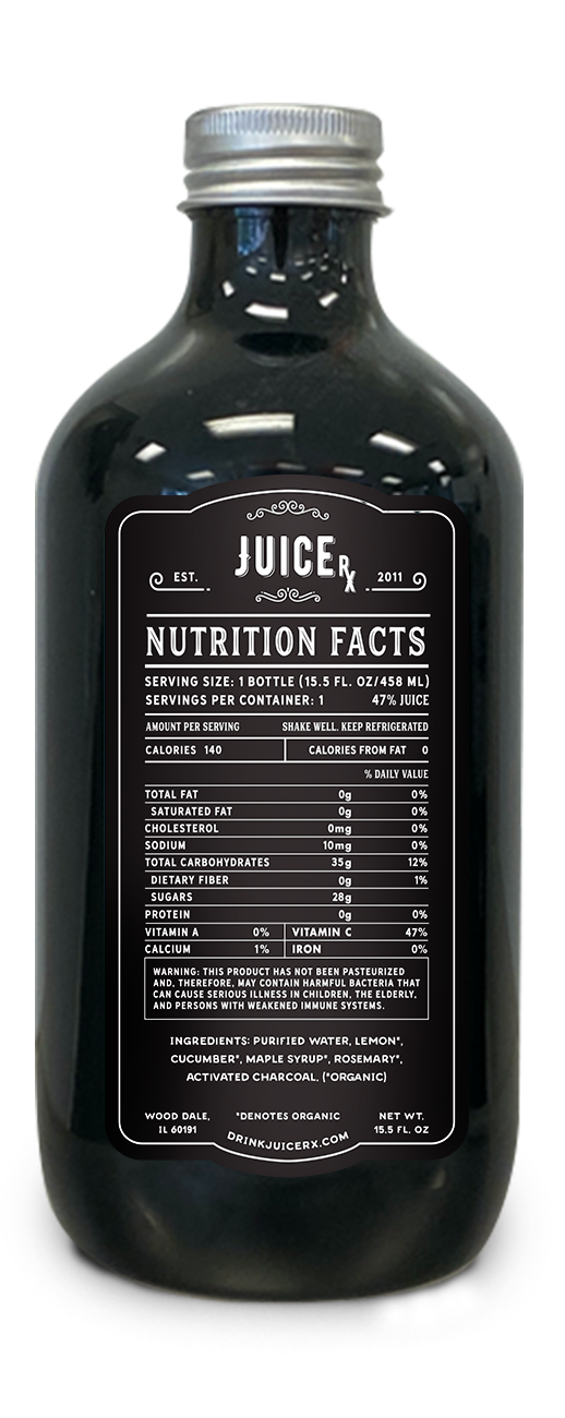 rosemary's lemonade juice bottle nutrition facts