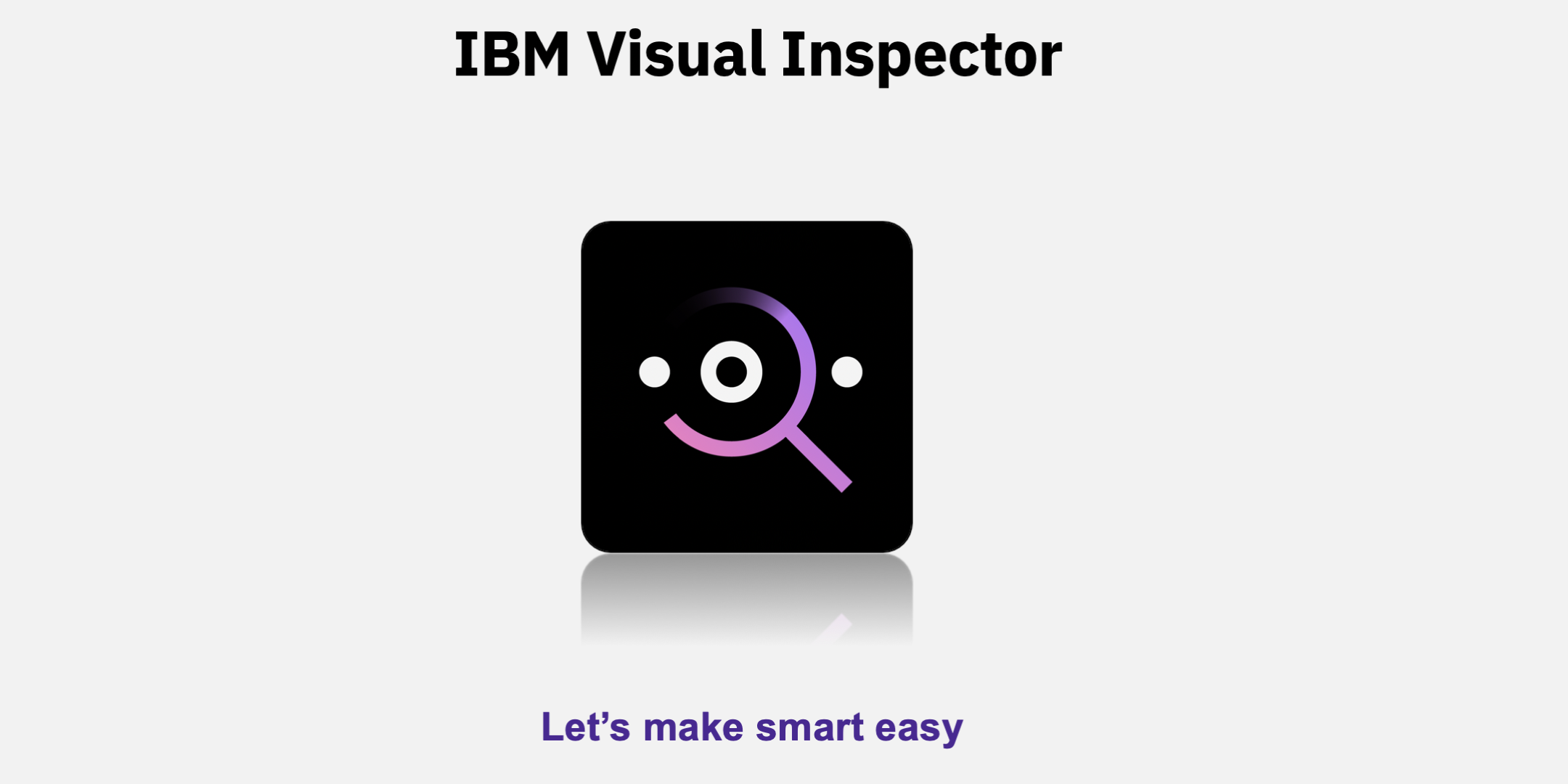 Visual Inspector iOS Application Demo with IBM