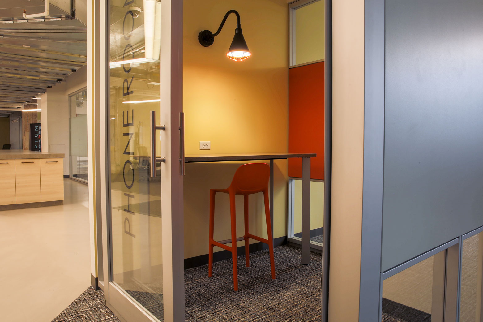 Private Phone Booth in Coworking Space | Chicago Connectory