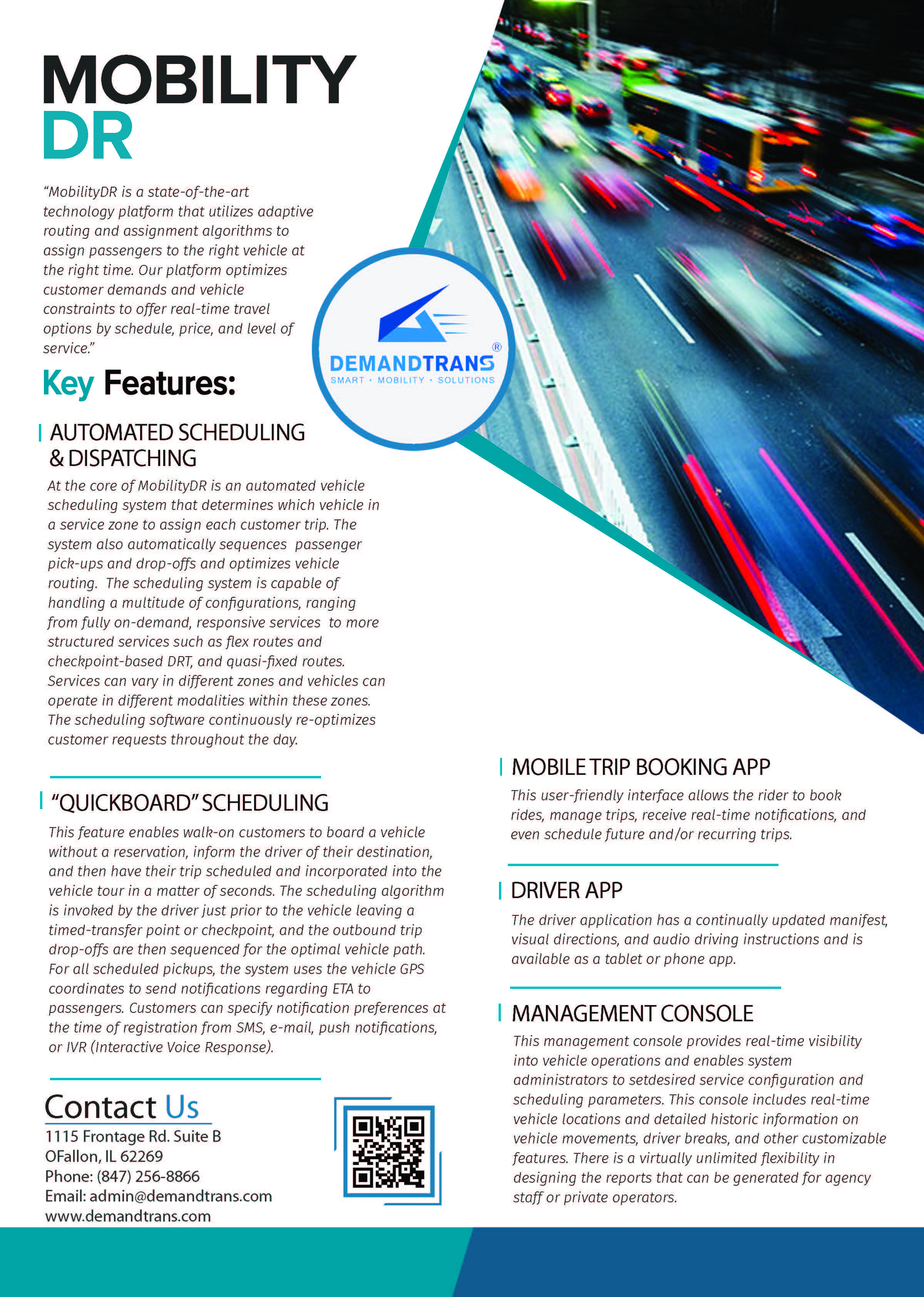 MobilityDR - Dynamic Mobility Capabilities