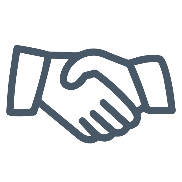 Shaking hands Icon, Startup Community | Chicago Connectory