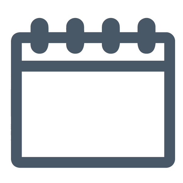 Calendar of Events Icon, Grey | Chicago Connectory