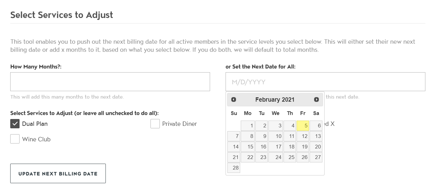 Adjust the Billing Date of Your Members with Two Clicks photo