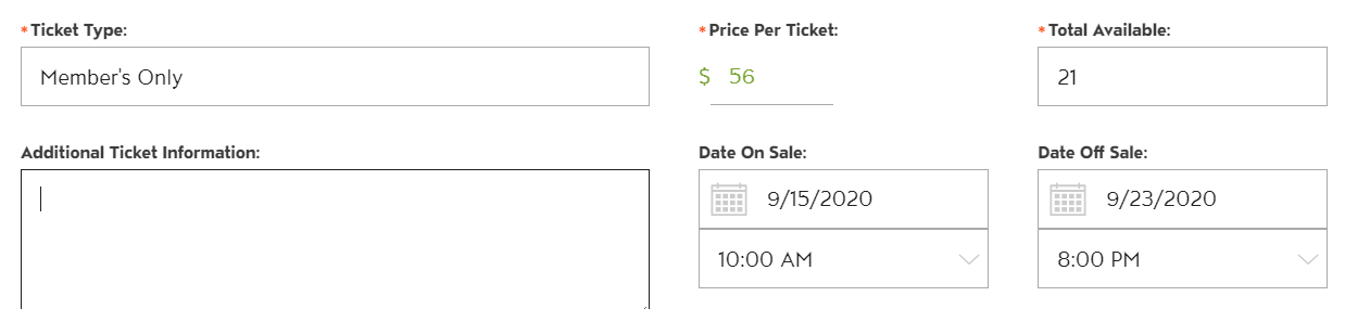 Set the Time Tickets Go On Sale and Off Sale, Not Just the Date photo