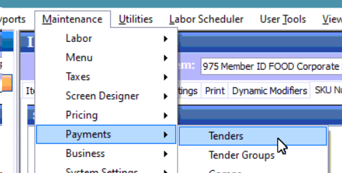 Configure Aloha for Tracking Member Spend and Card on File Payments photo