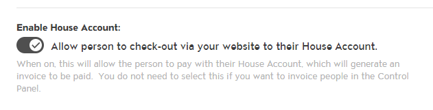 Enable House Account for Your Members to Charge to their House Account photo