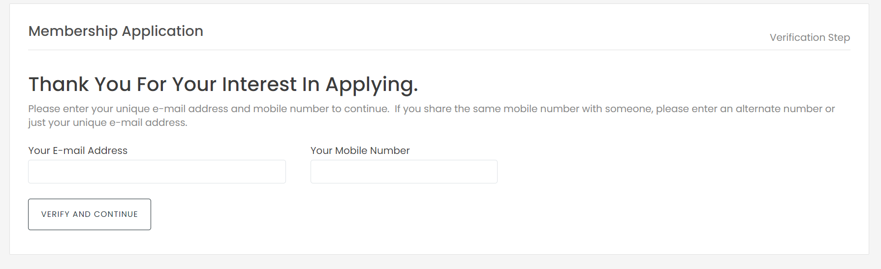 Verify an Applicant hasn't Already Applied Before Continuing - Avoid Data Overlap photo