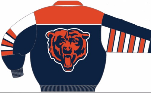Chicago Bears All Leather Nappa Jacket S-8X