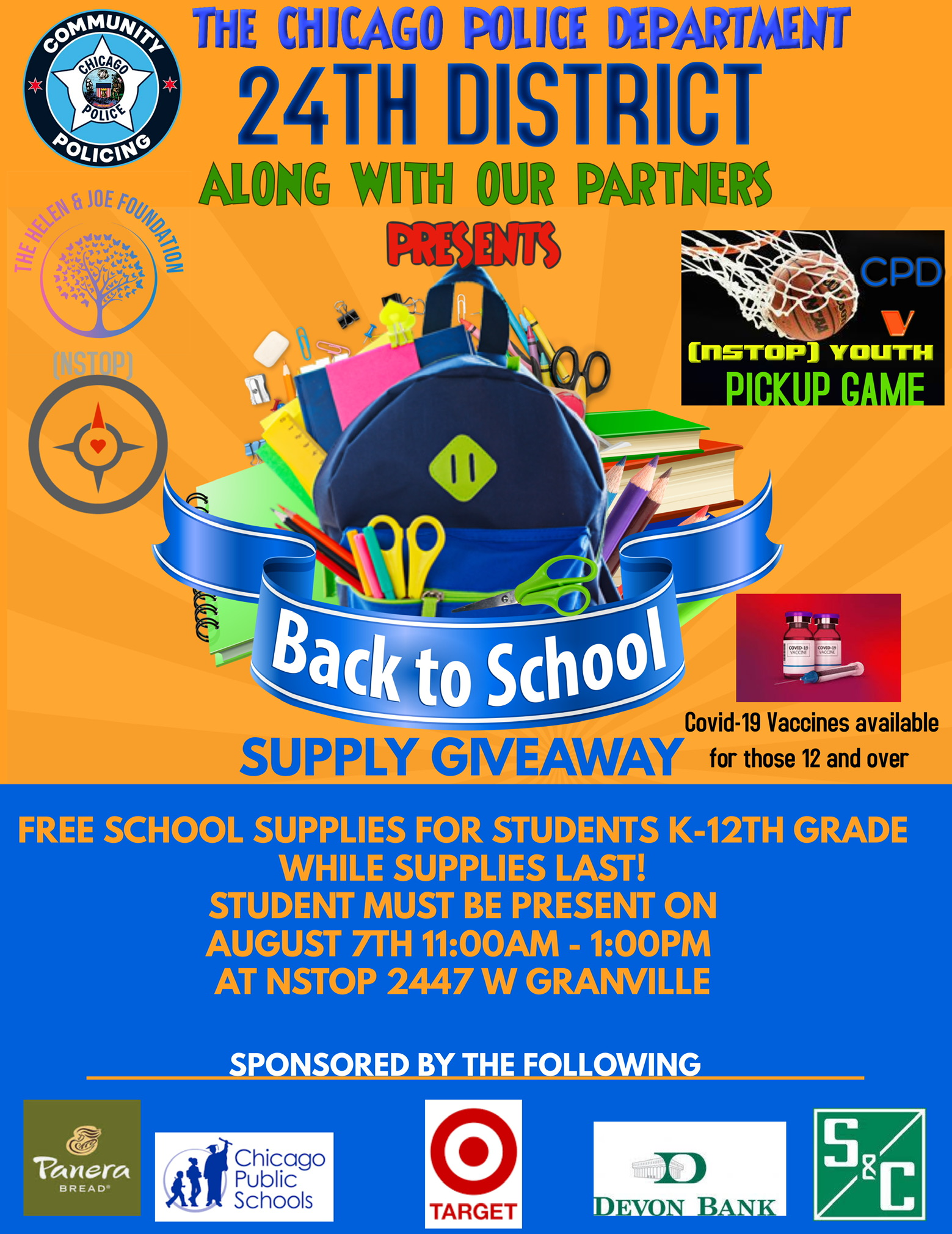 24th Dist CAPS Back-to-School Giveaway