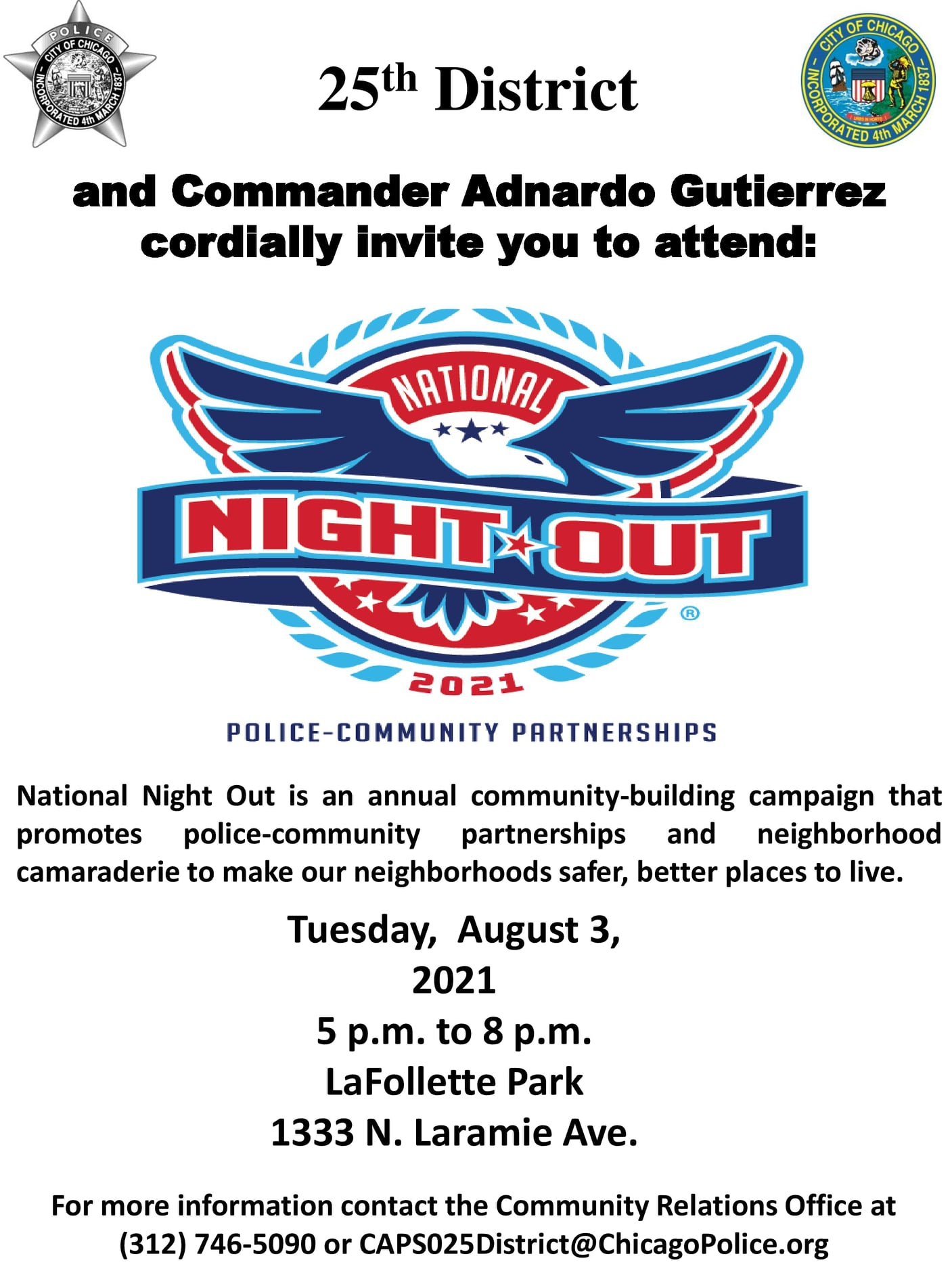 National Night Out - 25th DIstrict