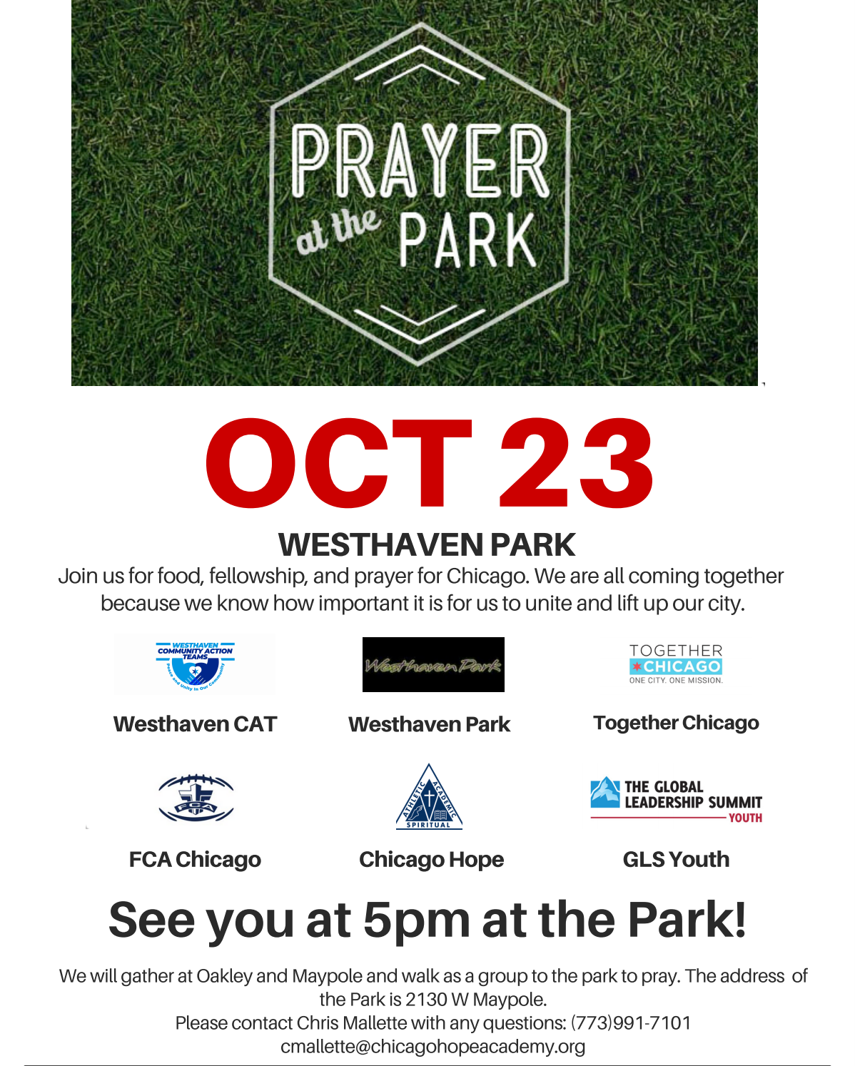 Prayer at the Park — Westhaven Park