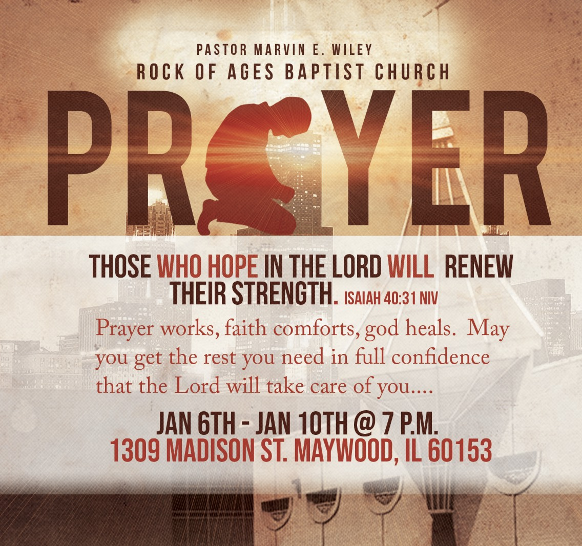 Rock of Ages Baptist Church Prayer