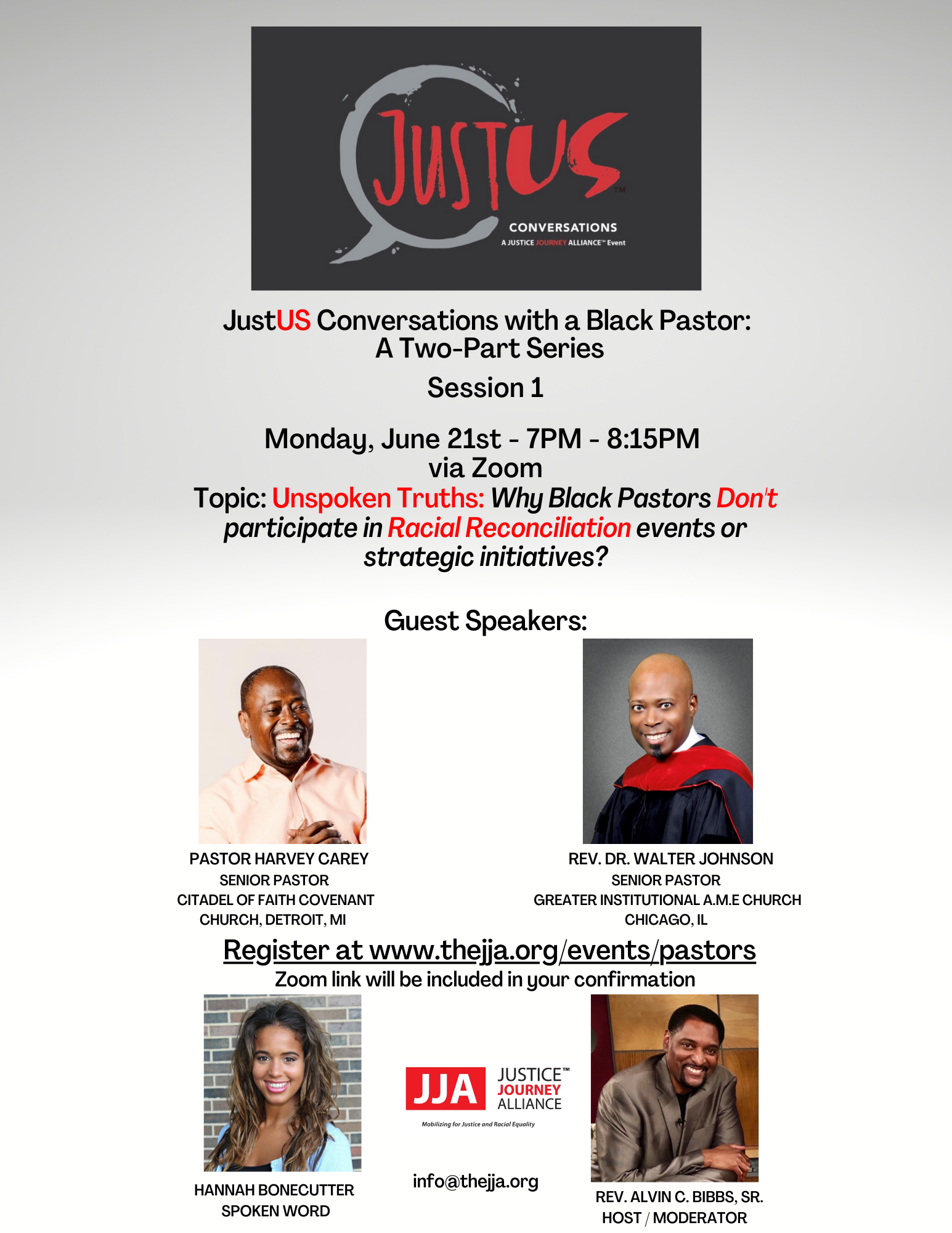 JustUS Conversations with a Black Pastor: A Two-Part Series | Session 1