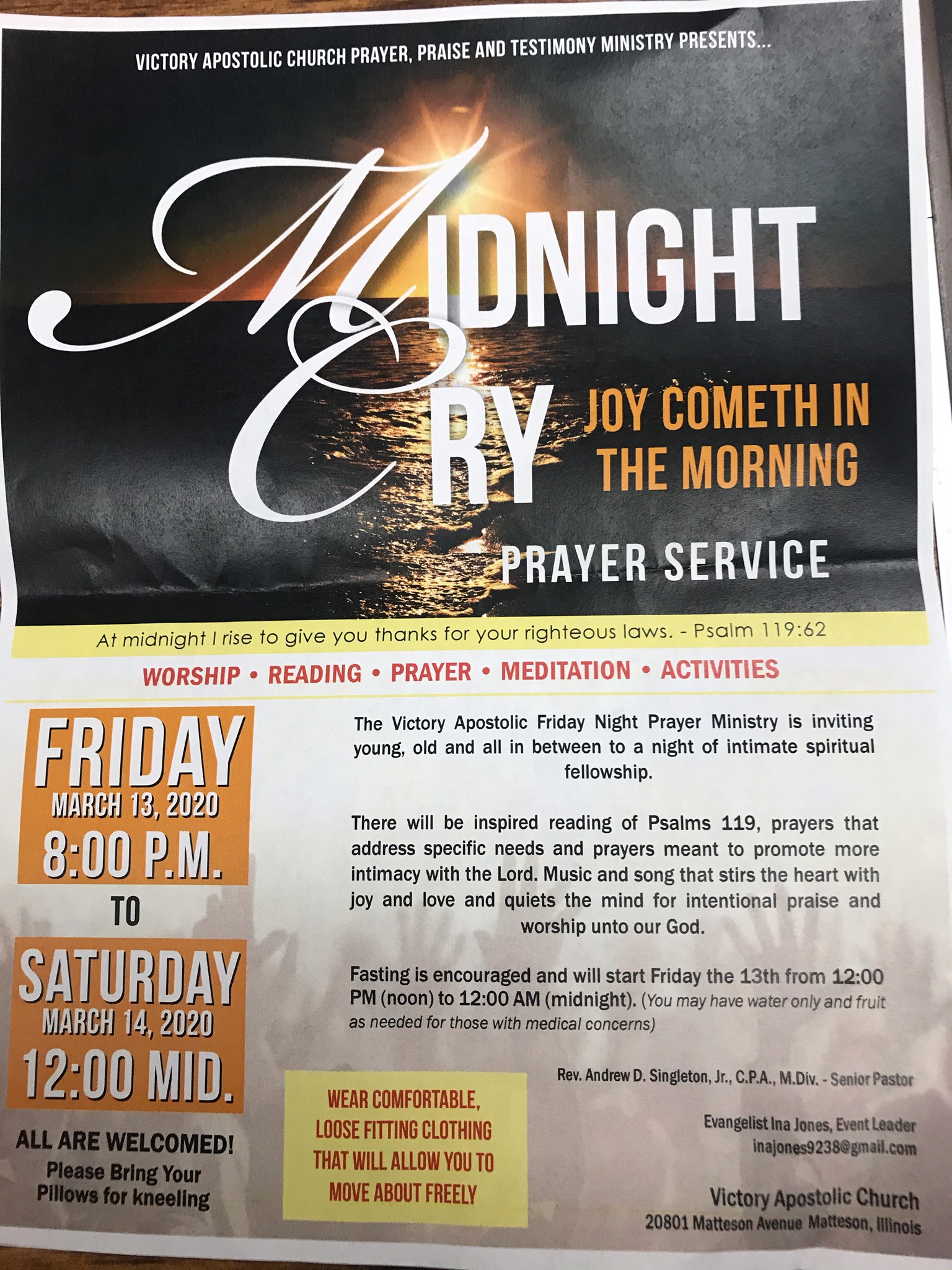 Midnight Cry Prayer Service