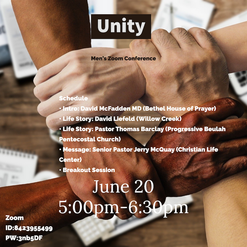 Unity - Men's Zoom Conference