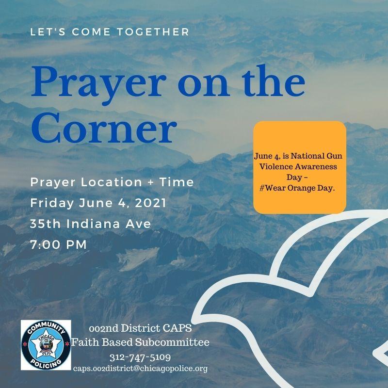 Prayer on the Corner (Wear Orange Day)